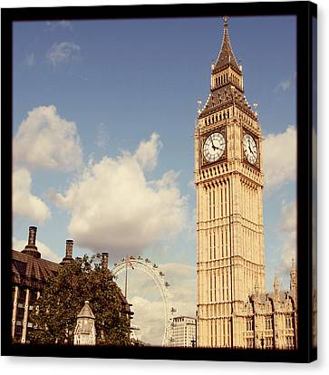 Retro Big Ben Canvas Print by Heidi Hermes