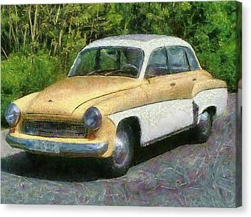 Retro Car Wartburg Canvas Print by Georgi Dimitrov