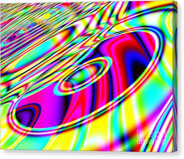 Retro Cd Or Dvd Background - Version 1 Canvas Print by Shazam Images