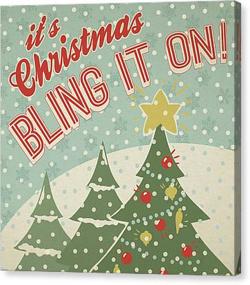 Retro Christmas Ix Canvas Print by Janelle Penner