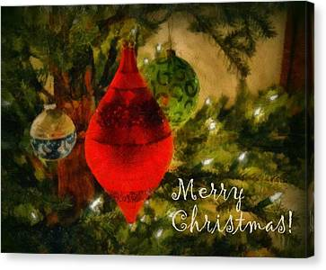 Retro Christmas Canvas Print by Michelle Calkins