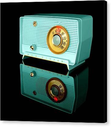Vacuum Canvas Print - Retro Classic Table Radio by Jim Hughes