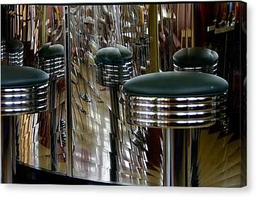 Retro Diner Canvas Print by Paul Wash