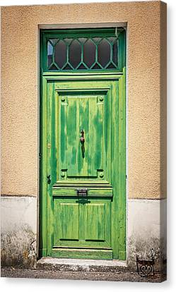 Retro Door Canvas Print