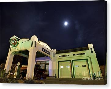 Canvas Print featuring the photograph Retro Gas Station by Keith Kapple
