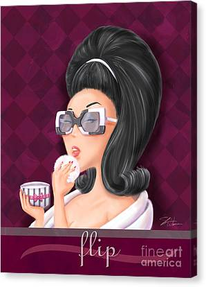 Hairstyle Canvas Print - Retro Hairdos-flip by Shari Warren