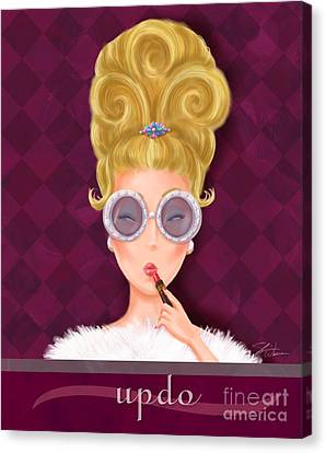 Hairstyle Canvas Print - Retro Hairdos-updo by Shari Warren