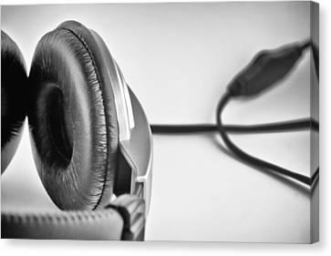 Retro Headphones Canvas Print