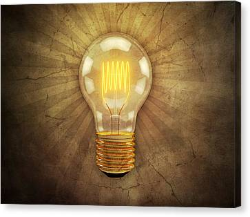 Retro Light Bulb Canvas Print
