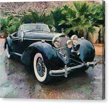 Retro Mercedes Canvas Print
