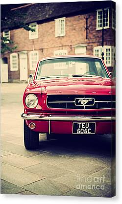 Retro Mustang Canvas Print by Tim Gainey