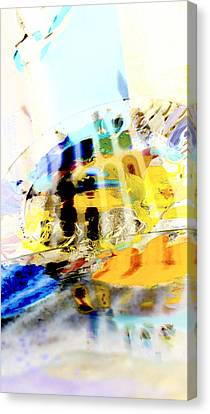 Canvas Print featuring the digital art Retro Reflections by Christine Ricker Brandt