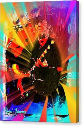 Retro Rocker Canvas Print by Sadie Reneau