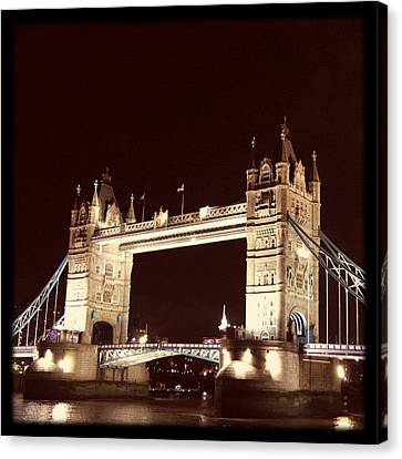 Retro Tower Bridge Canvas Print by Heidi Hermes