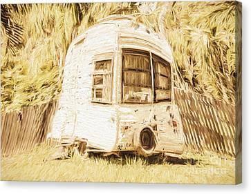 Retrod The Comic Caravan Canvas Print by Jorgo Photography - Wall Art Gallery