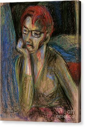 Retrospection - Woman Canvas Print