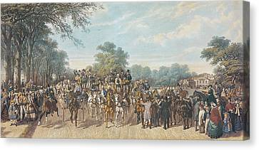 Return From The Derby, 1862 Canvas Print