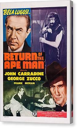Return Of The Ape Man, Us Poster, Bela Canvas Print by Everett