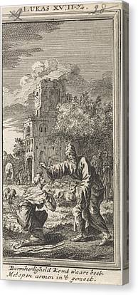 Return Of The Prodigal Son, Jan Luyken, Anonymous Canvas Print by Jan Luyken And Anonymous