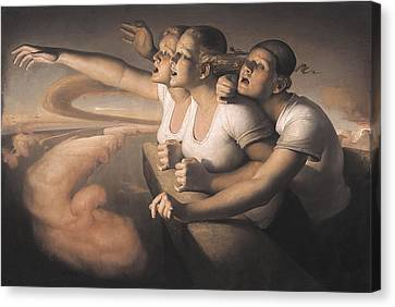 Return Of The Sun Canvas Print by Odd Nerdrum