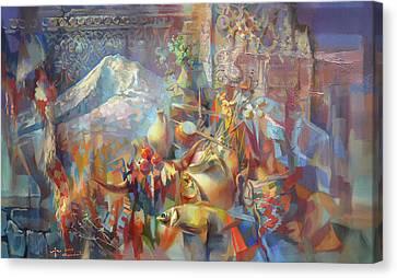 Return To Ararat Canvas Print by Meruzhan Khachatryan