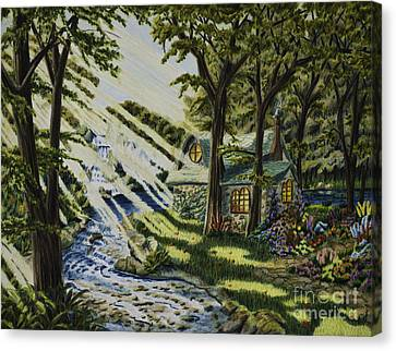 Return To Shani's Cottage Canvas Print by Robert Thornton