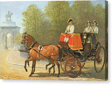 Returning From Her Majestys Drawing Room Canvas Print by Alfred Corbould