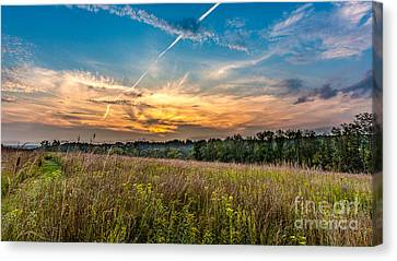 Retzer Sunset Stretch Canvas Print by Andrew Slater