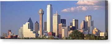 Reunion Tower, Dallas, Sunset, Texas Canvas Print by Panoramic Images