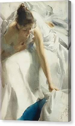 Reveil Canvas Print by Anders Zorn