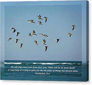 Revelation 21 4 Canvas Print by Dawn Currie