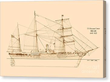 Revenue Cutter Bear Canvas Print by Jerry McElroy - Public Domain Image