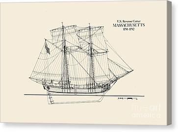 Revenue Cutter Massachusetts Canvas Print by Jerry McElroy - Public Domain Image