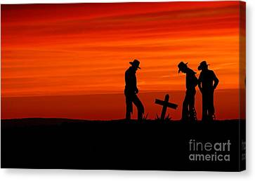 Cowboy Reverence Canvas Print