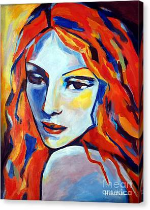Canvas Print featuring the painting Reverie by Helena Wierzbicki