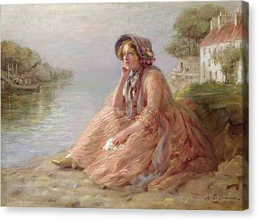 Reverie Oil On Canvas Canvas Print by Arthur Percy Dixon
