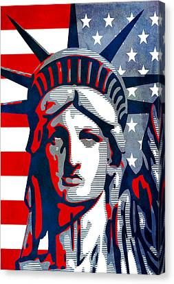 Reversing Liberty 1 Canvas Print
