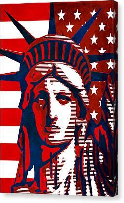Reversing Liberty 2 Canvas Print