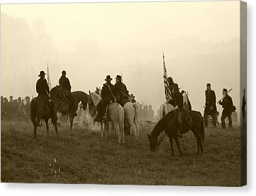Reviewing The Troops I - Perryville Ky Canvas Print by Thia Stover