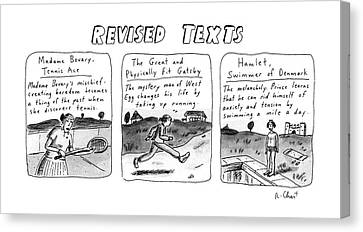 Revised Texts Canvas Print by Roz Chast