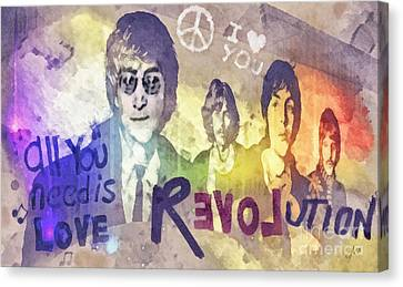 60s Canvas Print - Revolution by Mo T