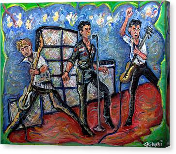 Revolution Rock The Clash Canvas Print by Jason Gluskin