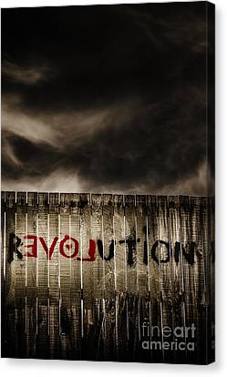 Revolution. The Writings Is On The Wall Canvas Print by Jorgo Photography - Wall Art Gallery