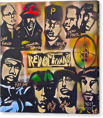 Revolutionary Hip Hop Canvas Print by Tony B Conscious