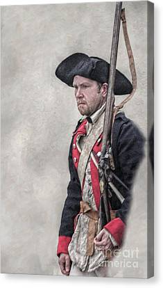 Revolutionary War American Soldier Two Canvas Print by Randy Steele