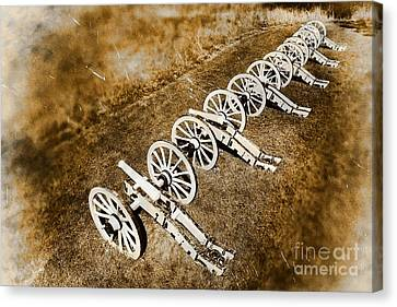 Revolutionary War Cannons Canvas Print by Olivier Le Queinec