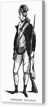 Revolutionary War Rifleman Canvas Print by Granger