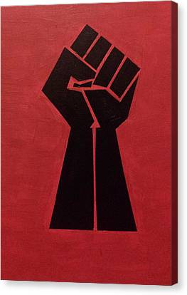 Revolutionist Fist  Canvas Print by Donald Beasley