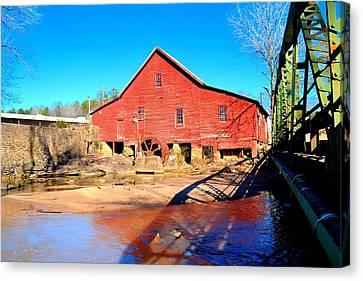Rex Mill On Big Cotton Indian Creek Canvas Print by James Potts