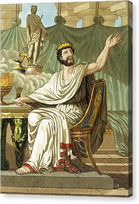 Rex Sacrificulus, Illustration Canvas Print by Jacques Grasset de Saint-Sauveur